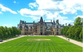 exterior of the Biltmore House in Asheville, SC