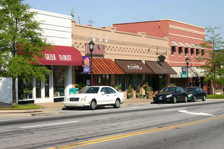 Exterior of downtown Greer, SC