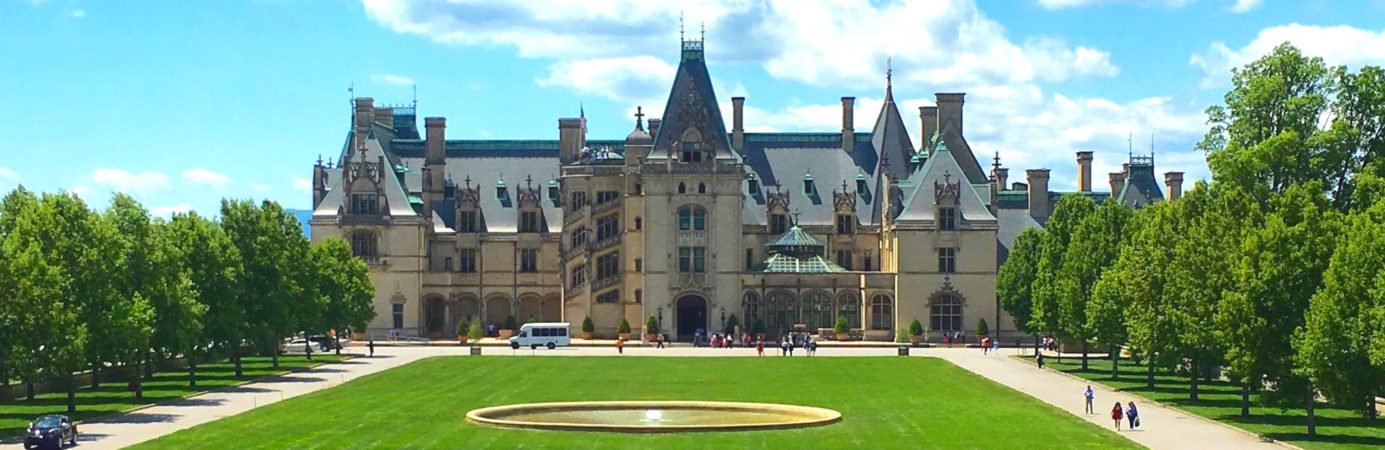 Exterior of the Biltmore House in Asheville, NC