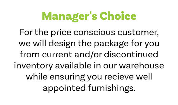 Managers choice for the price conscious customer