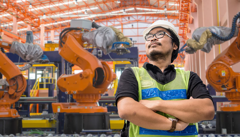 Engineer in an automotive manufacturing plant